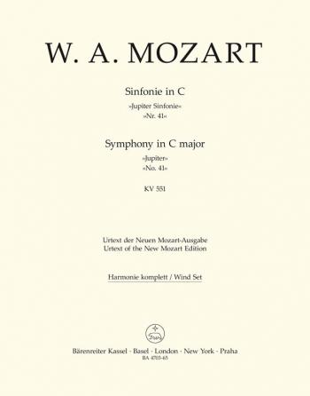Symphony No.41 in C (K.551) (Jupiter) (Urtext). : Wind set: (Barenreiter)