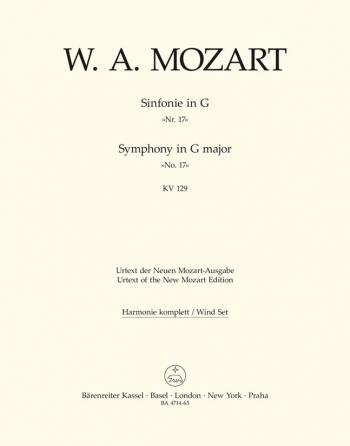 Symphony No.17 in G (K.129) (Urtext). : Wind set: (Barenreiter)
