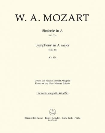 Symphony No.21 in A (K.134) (Urtext). : Wind set: (Barenreiter)