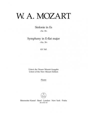 Symphony No.39 in E-flat  (K.543) (Urtext). : Wind set: (Barenreiter)