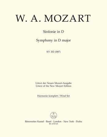 Symphony No.30 in D (K.202) (K.186b) (Urtext). : Wind set: (Barenreiter)