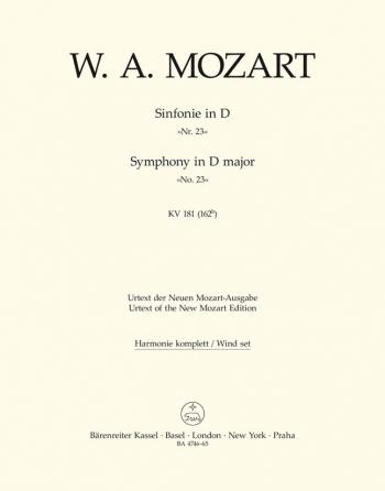 Symphony No.23 in D (K.181) (Urtext). : Wind set: (Barenreiter)