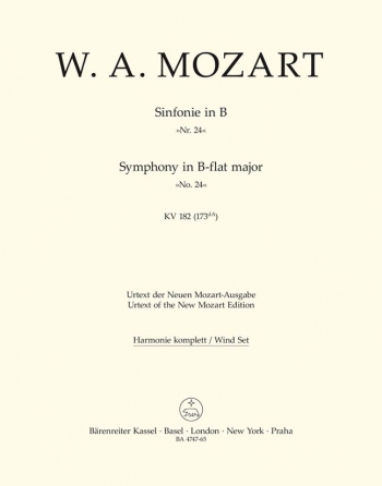 Symphony No.24 in B-flat (K.182) (Urtext). : Wind set: (Barenreiter)
