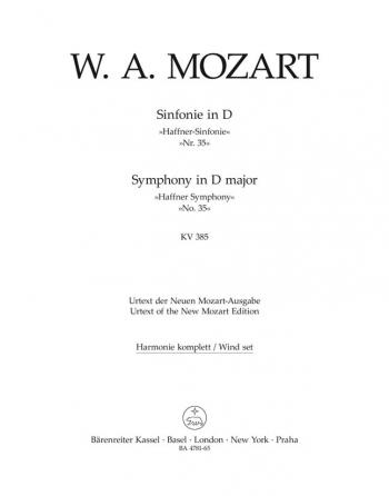 Symphony No.35 in D (K.385)  (Haffner) (Urtext). : Wind set: (Barenreiter)