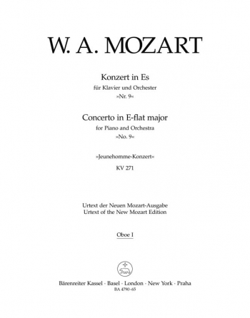 Concerto for Piano No. 9 in E-flat (K.271) (Urtext). : Wind set: (Barenreiter)