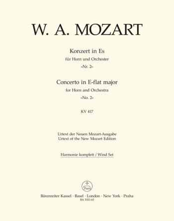 Concerto for Horn No.2 in E-flat (K.417) (Urtext). : Wind set: (Barenreiter)