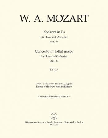 Concerto for Horn No.3 in E-flat (K.447) (Urtext). : Wind set: (Barenreiter)
