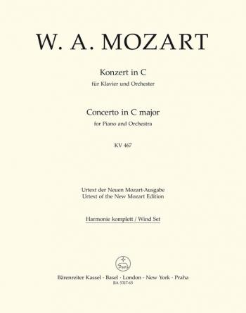 Concerto for Piano No.21 in C (K.467) (Urtext). : Wind set: (Barenreiter)