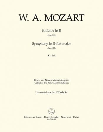 Symphony No.33 in B-flat  (K.319) (Urtext). : Wind set: (Barenreiter)