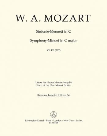 Symphony Minuett in C (K.409) (Urtext). : Wind set: (Barenreiter)