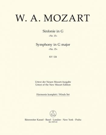 Symphony No.15 in G (K.124) (Urtext). : Wind set: (Barenreiter)