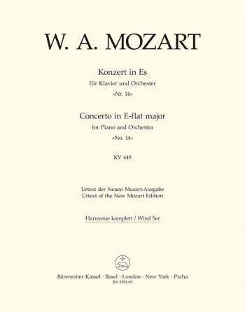 Concerto for Piano No.14 in E-flat (K.449) (Urtext). : Wind set: (Barenreiter)