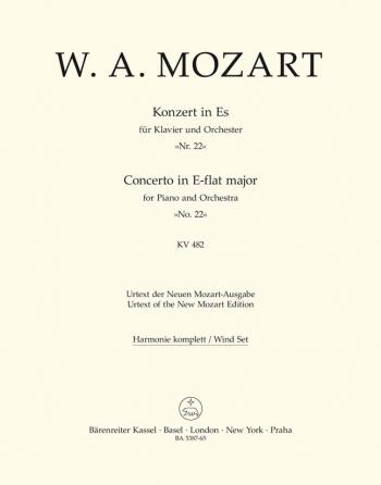 Concerto for Piano No.22 in E-flat (K.482) (Urtext). : Wind set: (Barenreiter)