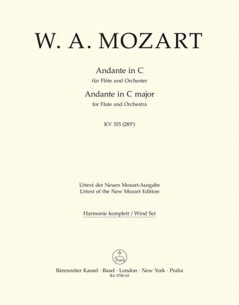 Andante for Flute in C (K.315) (Urtext). : Wind set: (Barenreiter)