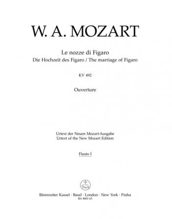 Marriage of Figaro (Overture) (K.492) (Urtext). : Wind set: (Barenreiter)