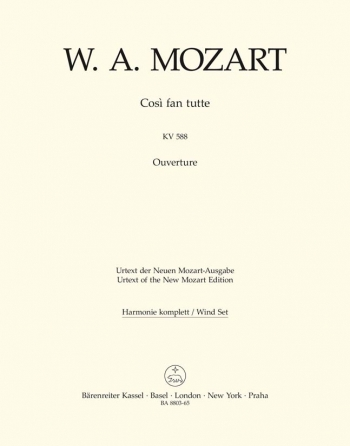 Cosi fan tutte (Overture) (K.588) (Urtext). : Wind set: (Barenreiter)