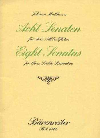 Sonatas  (8), Op.1/ 3-10. : Recorder Ensemble: (Barenreiter)