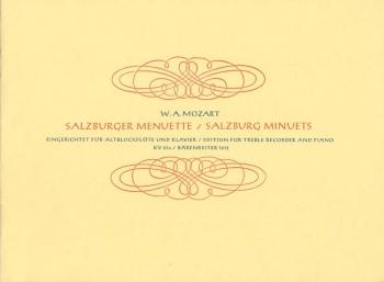Salzburg Minuets, Vol. 2 (K.65a). : Treble Recorder & Piano: (Barenreiter)