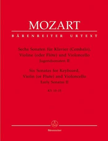 Sonatas for Violin and Piano, Vol. 2: Early Sonatas (6). (K.10-15) (Urtext).: Violin & Piano: (Baren