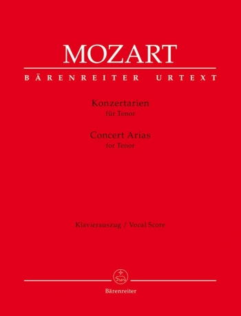 Concert Arias for Tenor (Urtext). : Voice: (Barenreiter)