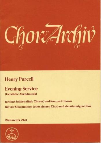 Evening Service (Magnificat/Nunc dimittis) (E-G). : Choral: (Barenreiter)