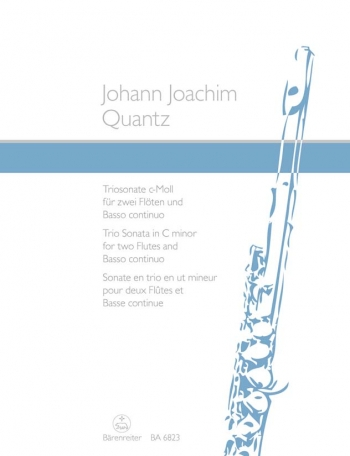 Trio Sonata in C minor. First edition. : 2 Flutes & Continuo: (Barenreiter)