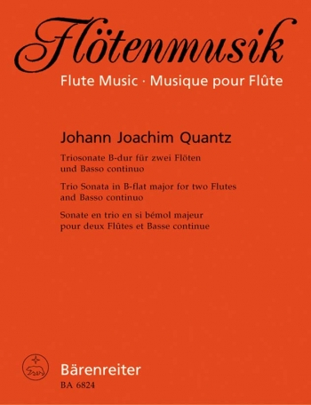 Trio Sonata in B-flat. First edition. : 2 Flutes & Continuo: (Barenreiter)