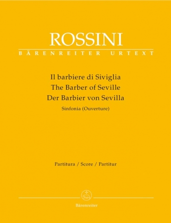 Barber of Seville, The (Overture) (Urtext). : Large Score Paperback: (Barenreiter)