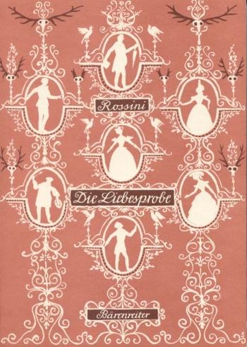 Die Liebesprobe (La Pietra del Paragone) (G) (Urtext). : Vocal Score: (Barenreiter)