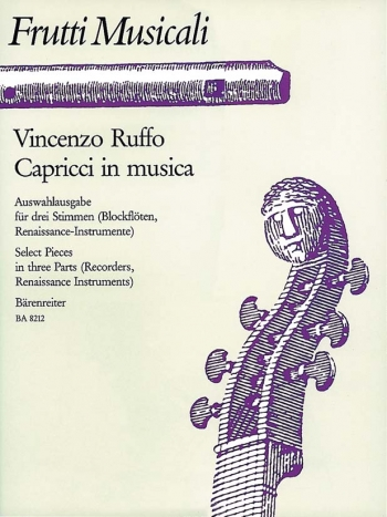 Capricci in musica. Selected Pieces in three Parts. : Recorder Ensemble: (Barenreiter)