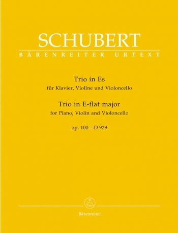 Piano Trio in E-flat, Op.100 (D.929) (Urtext). : Mixed Ensemble: (Barenreiter)
