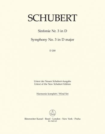 Symphony No.3 in D  (D.200) (Urtext). : Wind set: (Barenreiter)