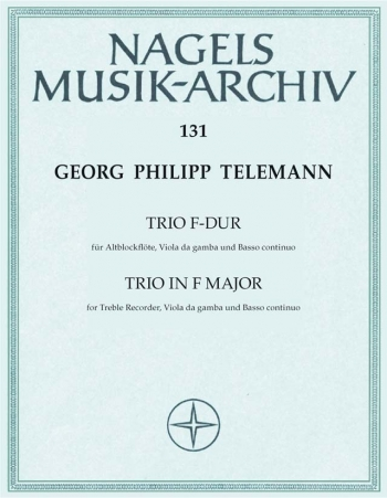 Trio in F (from Essercizii Musici) (TWV 43: F3). : Mixed Ensemble: (Barenreiter)