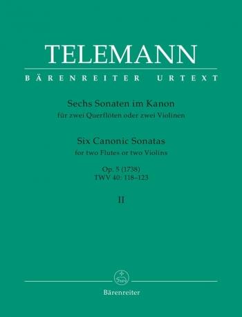 Sonatas in Canon (6), Op.5, Vol. 2 (in D min TWV 40: 121; in A TWV 40: 122; in A min TWV 40: 123; Zi