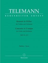Concerto for Violin in D (TWV 51: D9) (Urtext). : Large Score Paperback: (Barenreiter)