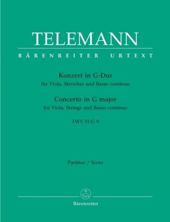 Concerto for Viola in G (TWV 51: G9) (Urtext). : Large Score Paperback: (Barenreiter)