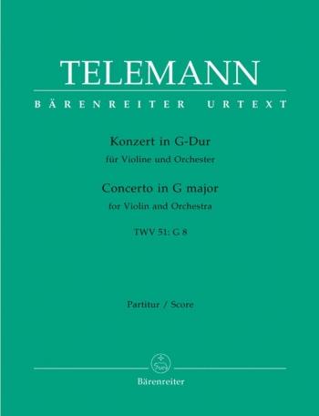 Concerto for Violin in G (TWV 51: G8) (Urtext). : Large Score Paperback: (Barenreiter)