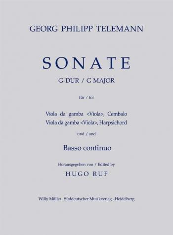 Sonata in G (TWV 42: G6). : Viola da gamba: (Barenreiter)