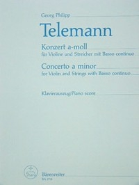 Concerto for Violin in A minor. : Violin & Piano: (Barenreiter)