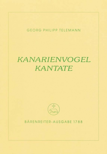 Kanarienvogel Kantate (Canary Cantata) (G). : Voice: (Barenreiter)