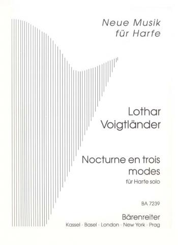 Nocturne in Three Modes for Solo Harp. : Harp: (Barenreiter)