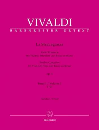 La Stravaganza, Op.4 (Nos. 1-6) (Urtext). : Violin & Piano: (Barenreiter)