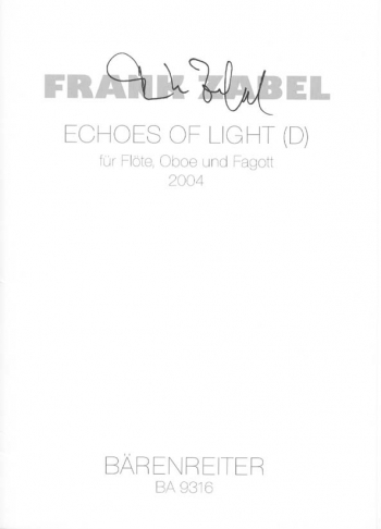 Echoes of light (2004). : Wind Ensemble: (Barenreiter)