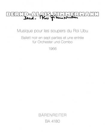 Musique pour les soupers du Roi Ubu. Ballet noir (1966). : Study score: (Barenreiter)