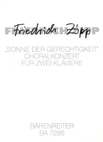 Sonne der Gerechtigkeit. Choralkonzert (1966). : 2 Pianos: (Barenreiter)