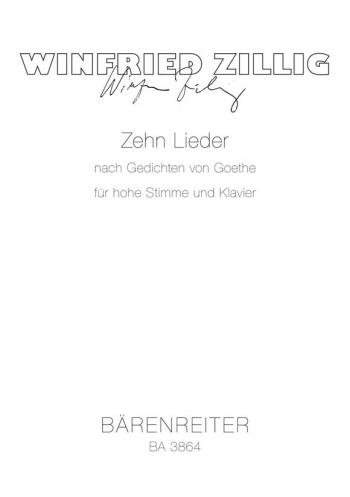 Songs after Goethe (10) (G). : Voice: (Barenreiter)