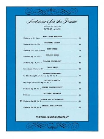 Nocturne, Op.16, No.4: Piano  (Hal Leonard)