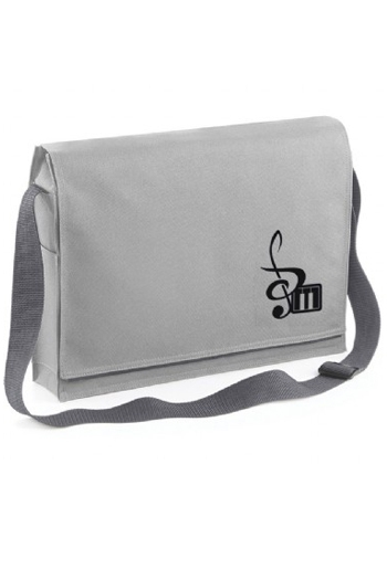 Messenger Music Bag Grey Treble Clef Design