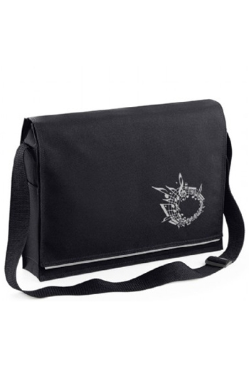 Messenger Music Bag Black Stave Design