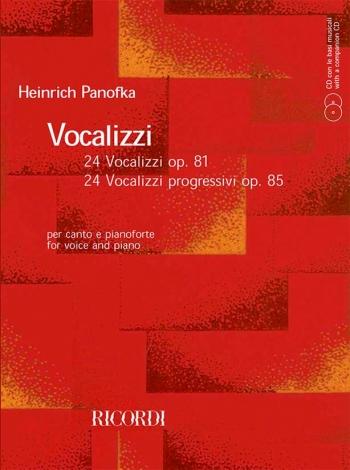 24 Vocalizzi Op. 81 Vocal Studies Book & 2 CDS (Ricordi)